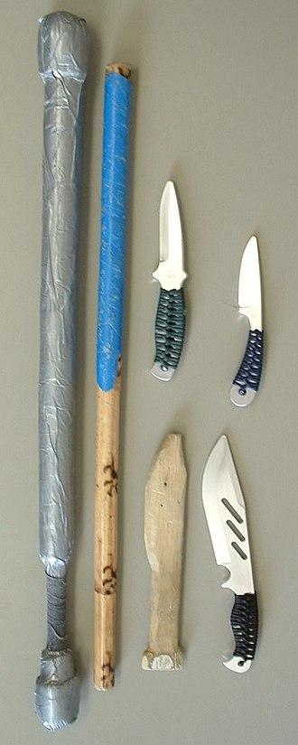 Arnis - Eskrima training weapons