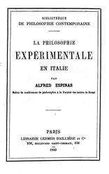 La Philosophie expérimentale en Italie