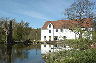 Esrum Å - Esrum Å at Esrum Watermill