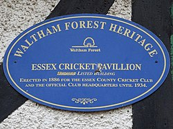 Essex cricket pavillion (waltham forest heritage)
