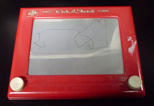 National Toy Hall of Fame - The classic red-and-white Etch A Sketch model
