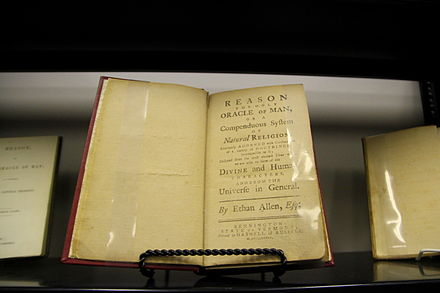 Allen's 'Reason', at CFI's Library Ethan Allen book.jpg
