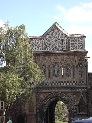 Flushwork - The Ethelbert Gate at Norwich Cathedral