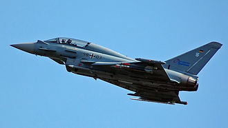 China–European Union relations - European military hardware, such as the Eurofighter Typhoon (pictured), are banned from being exported to China.