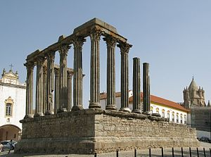 Portugal - Roman Temple of Évora, one of the best preserved Roman-built structures in the country
