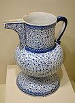 Ewer, Golden Horn ware, Turkey, probably Iznik, Ottoman period, c. 1530-1540, earthenware with underglaze painting in cobalt blue - Cincinnati Art Museum - DSC04087.JPG