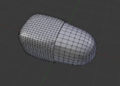 Example of T-vertices in Blender after applying a subdivision modifier.png