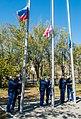 Expedition 64 Cosmonaut Hotel Flag Hoisting (NHQ202009290002).jpg