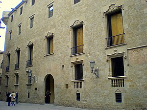 General Archive of the Crown of Aragon - General Archive of the Crown of Aragon building until 1993.