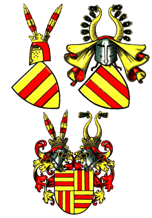 House of Fürstenberg (Westphalia) - Evolution of the coat of arms