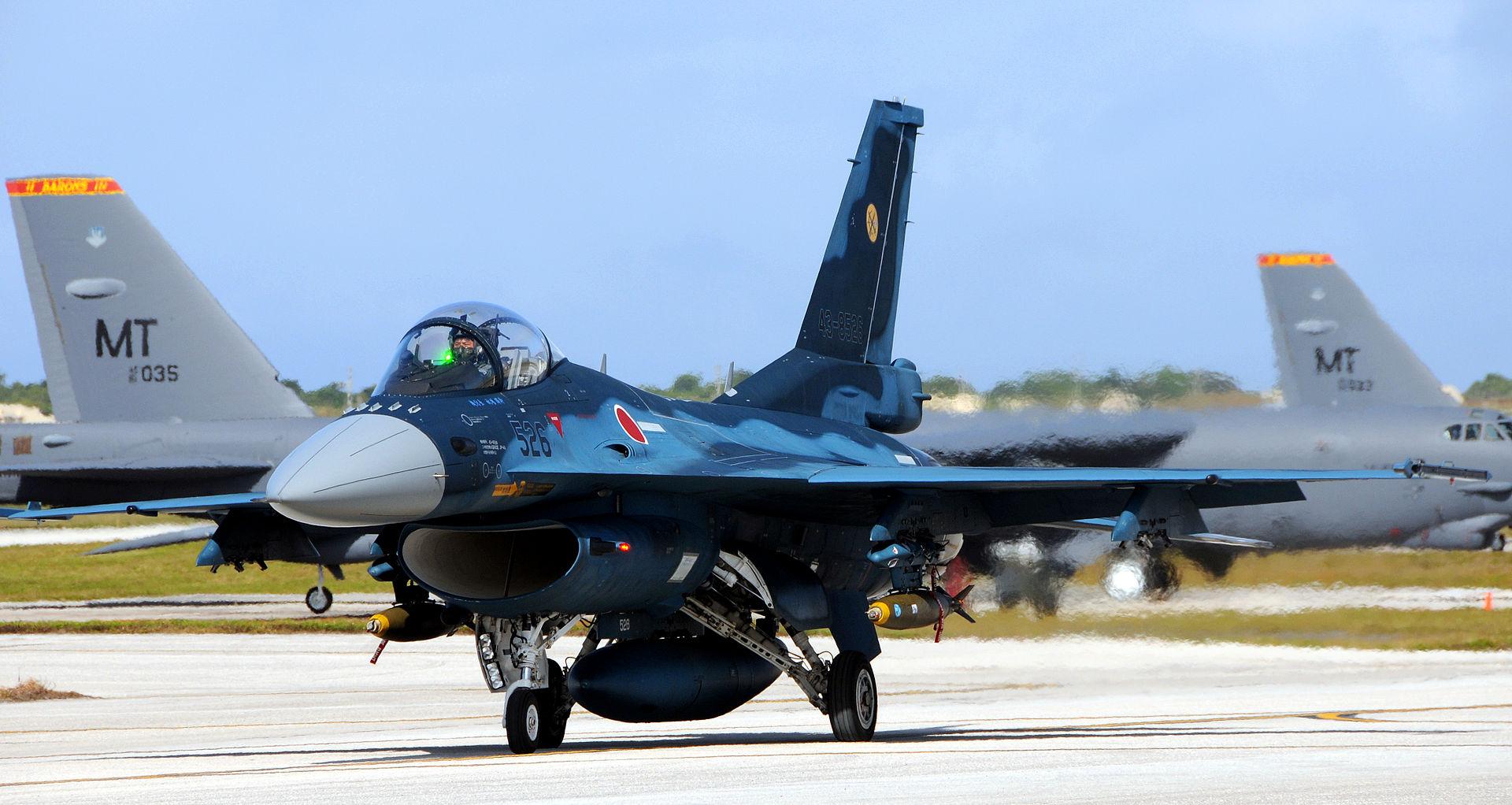 اليابان تخطط لبيع مقاتلاتها القديمه نوع F-15 الى الولايات المتحده  - صفحة 2 1920px-F-2A_%28526%29_of_6_Sqn_taxis_at_Andersen_Air_Force_Base%2C_-5_Feb._2009_a