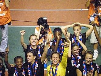 Morgan Brian - After the award ceremony at Japan 2012 FIFA under-20 women's world cup. From left to right: 4-Crystal Dunn, 3-Cari Roccaro, 7-Kealia Ohai, 1-Brayne Heaberlin (GK), 9-Chioma Ubogagu, 6-Morgan Brian, 17-Taylor Schram, 16-Sarah Killion