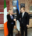 FM Urmas Paet met with Irelands Minister of State for European Affairs Lucinda Creighton in Tallinn (31st October 2012) (8141481785).jpg