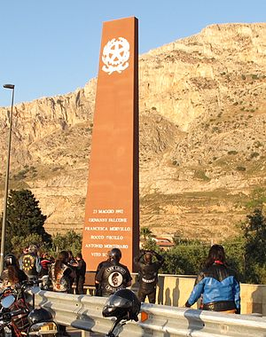 Capaci bombing - Memorial of Giovanni Falcone in Capaci.
