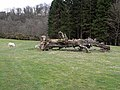Fallen tree trunk in Felton Park - geograph.org.uk - 1802652.jpg