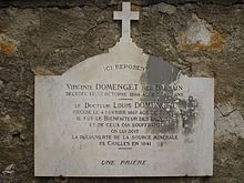 Photographie de la tombe de Louis Domenget.
