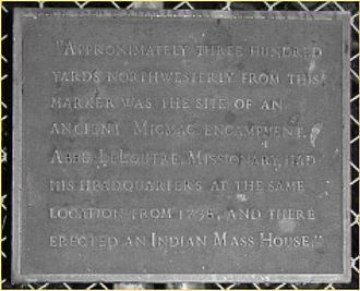Jean-Louis Le Loutre - Plaque at Father Le Loutre's Mission, Shubenacadie, Nova Scotia