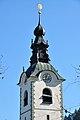 Feistritz im Rosental Sankt Johann Pfarrkirche Heiliger Johannes Kirchturmdach 18102011 220.jpg