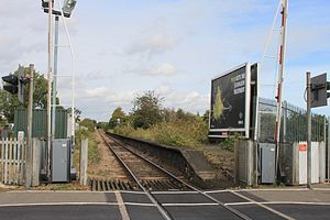 Felixstowe Beach railway station - Now only the platform and level crossing remain