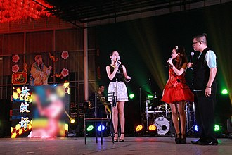 Getai - Introduction of LED Panels let the audience know who is this singer is
