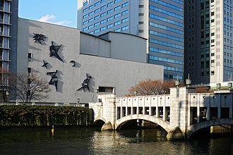 Agharta (album) - Festival Hall (left center) in Osaka, where Agharta was recorded