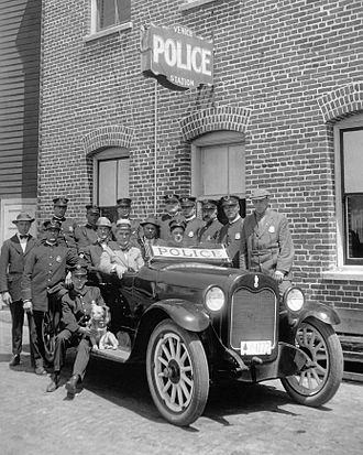 Los Angeles Police Department - Venice Police Station in the 1920s