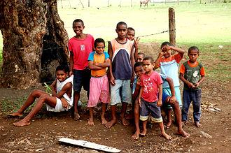 Fijians - Group of Fijian children, 2008