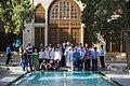 Fin Garden, Kashan, Iran باغ فین کاشان، ایران 06- روحانیون گردشگر در فین کاشان.jpg