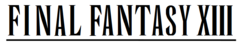 Final Fantasy XIII wordmark.png