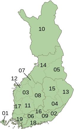 Finland ISO 3166-2 Regions Map.svg