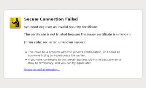 Screenshot of Firefox 3.0 showing an error whe...