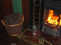 Fireplace with Peat.JPG