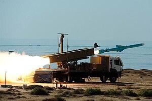 Qader (missile) - Firing Qader Missile in Velayat-90 Naval Exercise