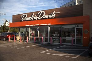 Dunkin' Donuts - The original Dunkin' Donuts in Quincy, Massachusetts, after its renovation in the 2000s