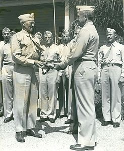 Flag Presentation for Sands of Iwo Jima, 14 July 1949.jpg