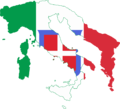 Flag map of Greater Italy (Kingdom of Italy).png