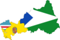 Flag map of provinces of Pasco.png