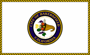Bakersfield Fire Department - Image: Flag of Bakersfield, California