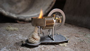 Vacuum engine - Photo of a flame-licker engine