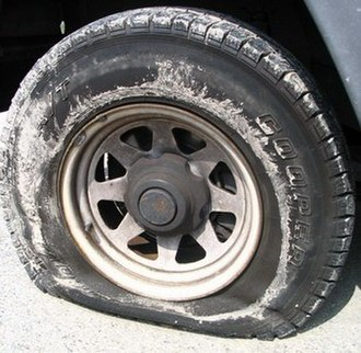 Spare tire - A spare tire allows a driver to replace a flat tire and drive on