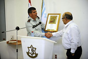 Meir Dagan - IDF chief of Staff Gabi Ashkenazi honoring outgoing Mossad director, Meir Dagan