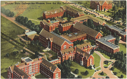 Florida State College for Women, c. 1930 Florida State College for Women from the air, Tallahassee, Fla..jpg