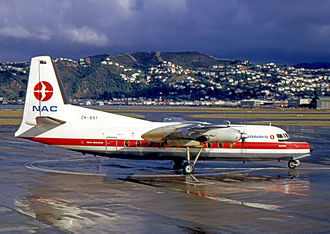 New Zealand National Airways Corporation - NAC Fokker F-27 Series 100 at Wellington Airport in 1971