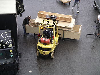 Photo of a fork-lift truck at the NEC, West Mi...