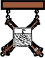 Former US Army Artillery Qualification Badge.png