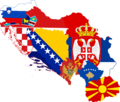 Former Yugoslavia Flag Map (With Kosovo).png