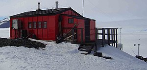 The Hut at Fossil Bluff, Antarctica