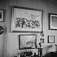 Foto van een tekening van het bezoek van prinses Juliana en prins Bernhard aan D, Bestanddeelnr 252-8794.jpg