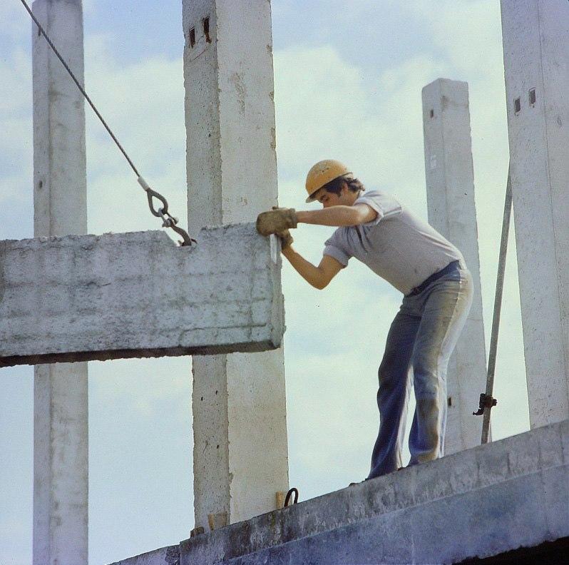 Fotothek df n-22 0000082 Baufacharbeiter, Bürogebäude