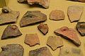 Fragments ceràmics procedents de la cova del Montgó, Neolític, Museu Soler Blasco, Xàbia.JPG